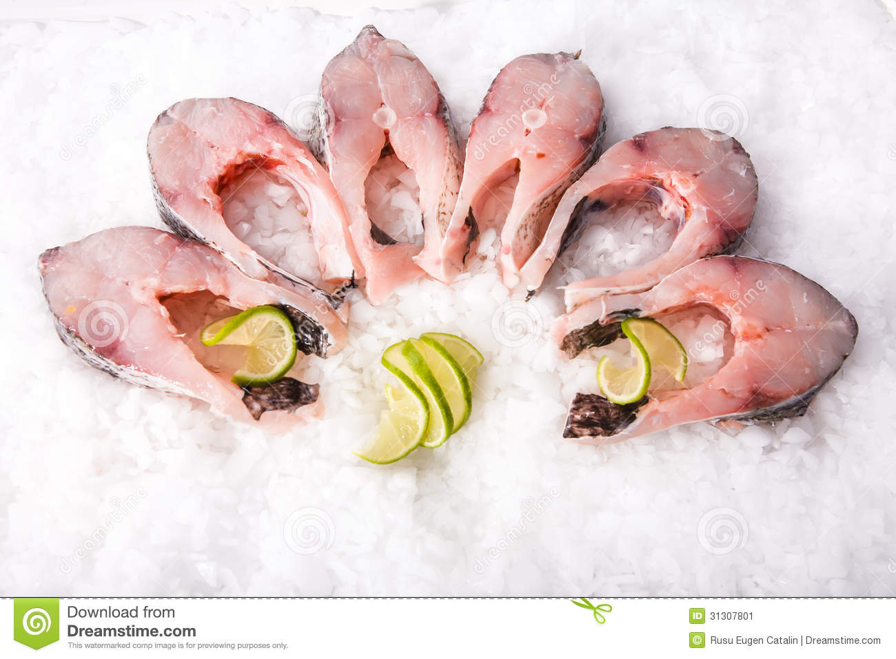 Fresh fish cut pieces stock image image 31307801 for Piece of fish