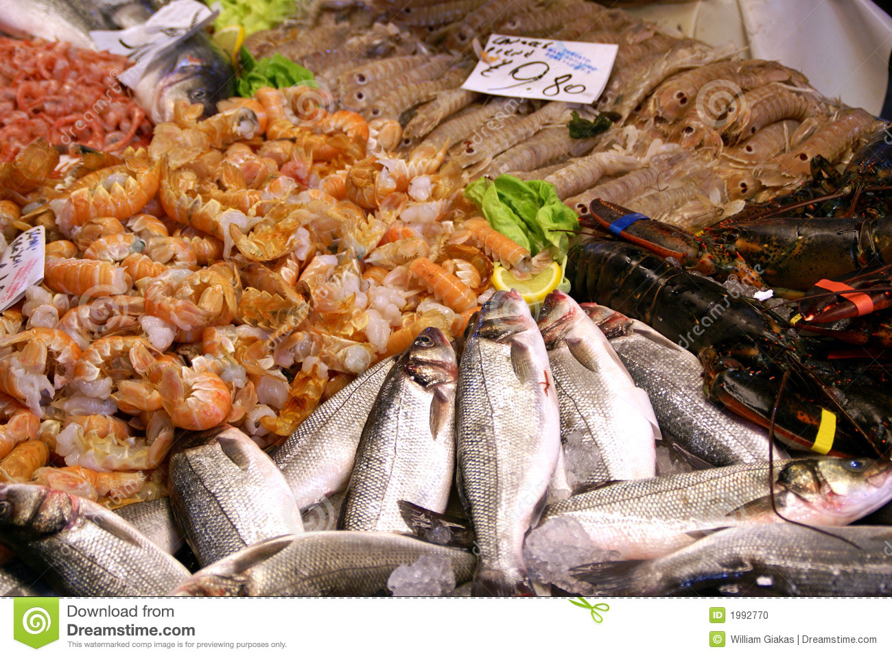 fresh fish market stock photo image of italy venice