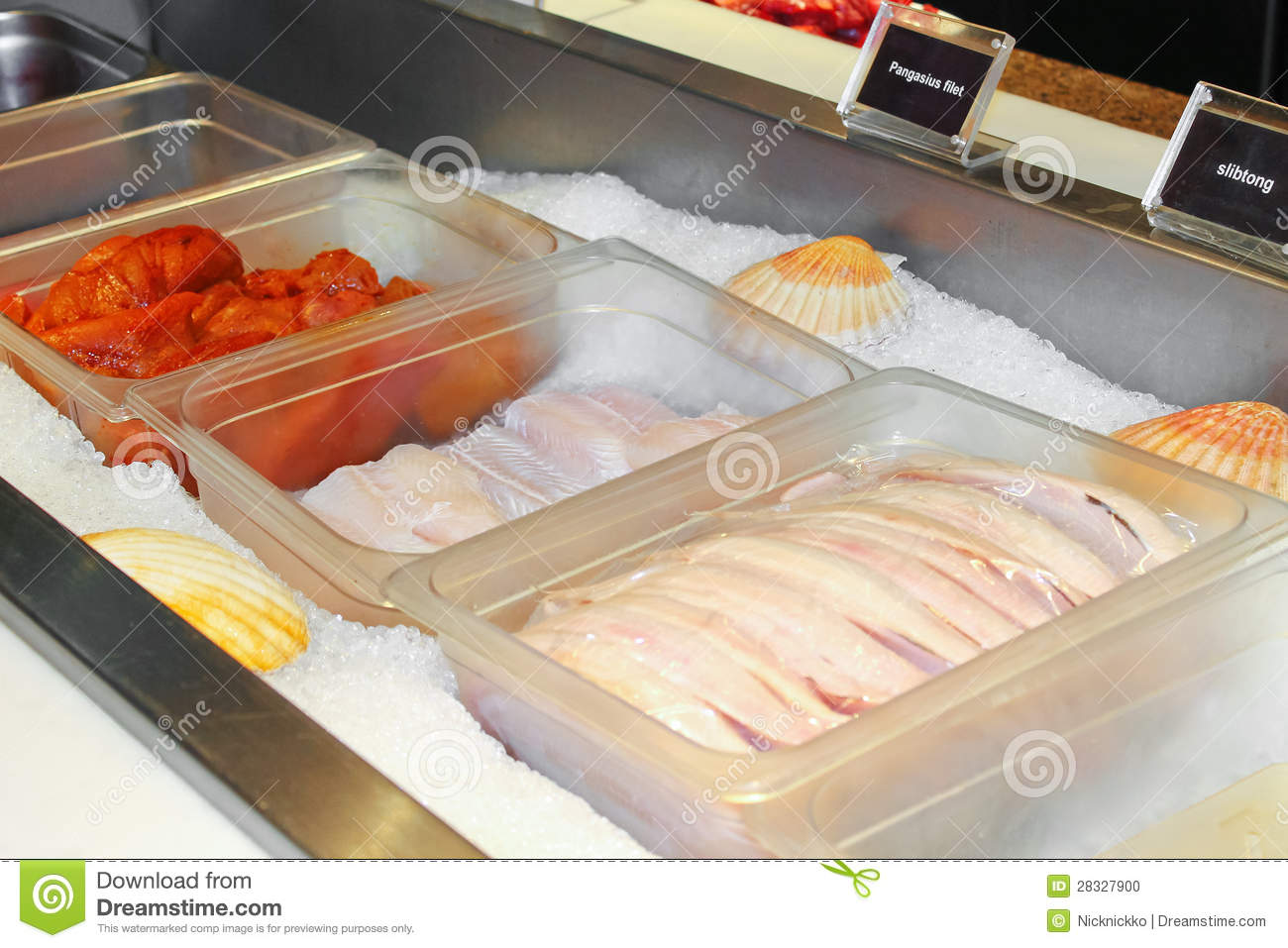 fresh fish in a restaurant stock photo image 28327900