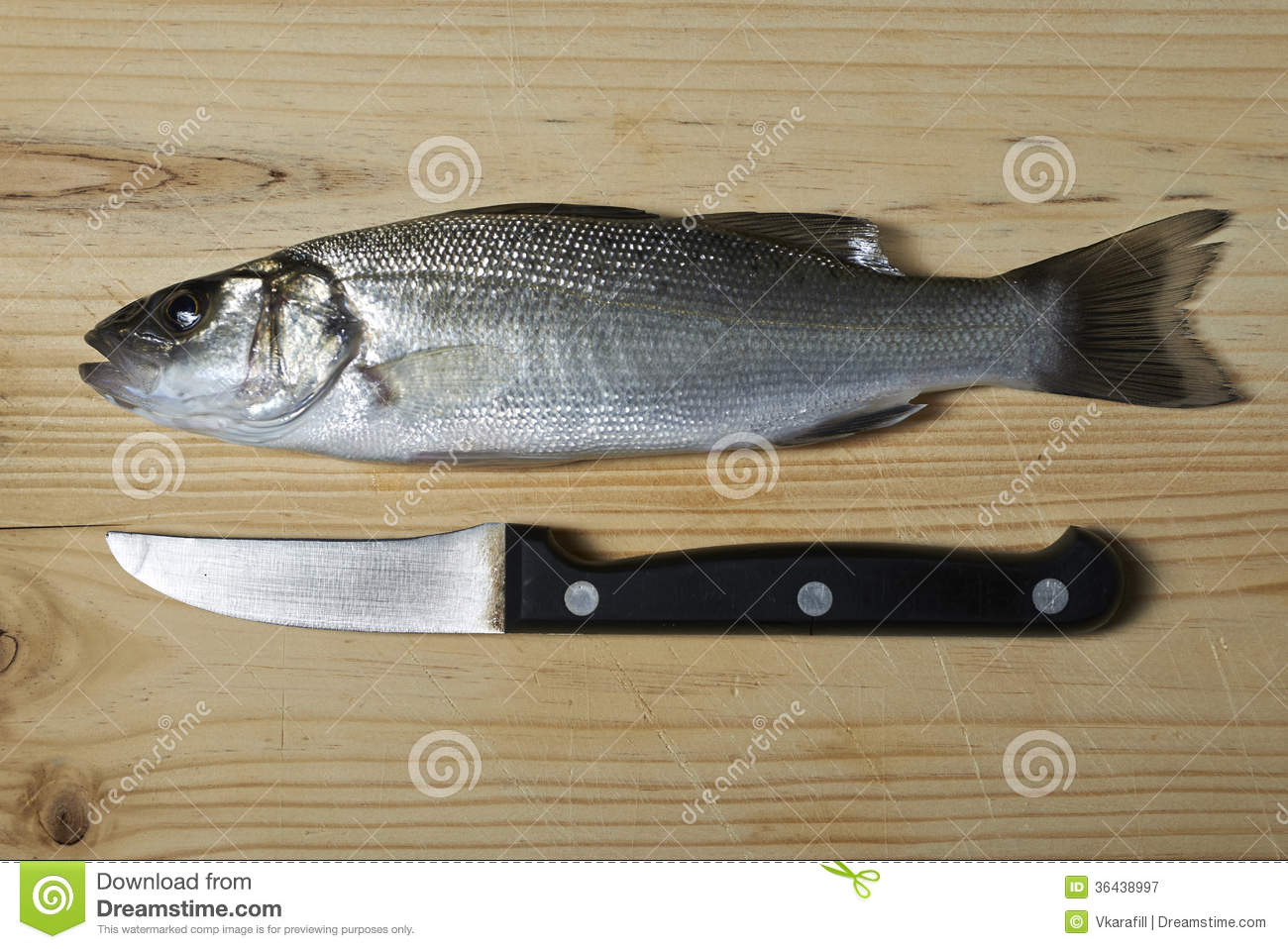 Fresh fish sea bass royalty free stock photography for Bass fish cooking
