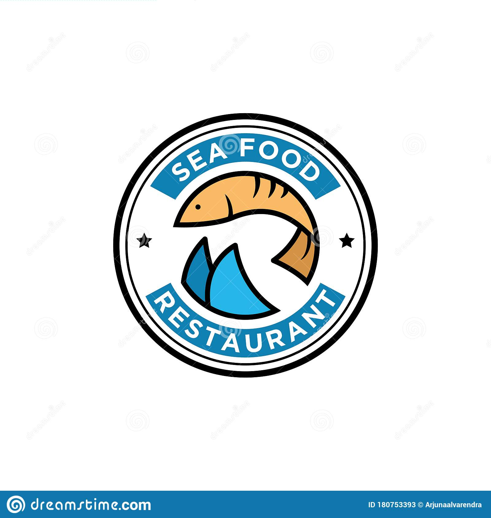 Fresh Fish Seafood Restaurant Logo Design Food And Beverages Vector Illustration Stock Vector Illustration Of Delicious Cook 180753393