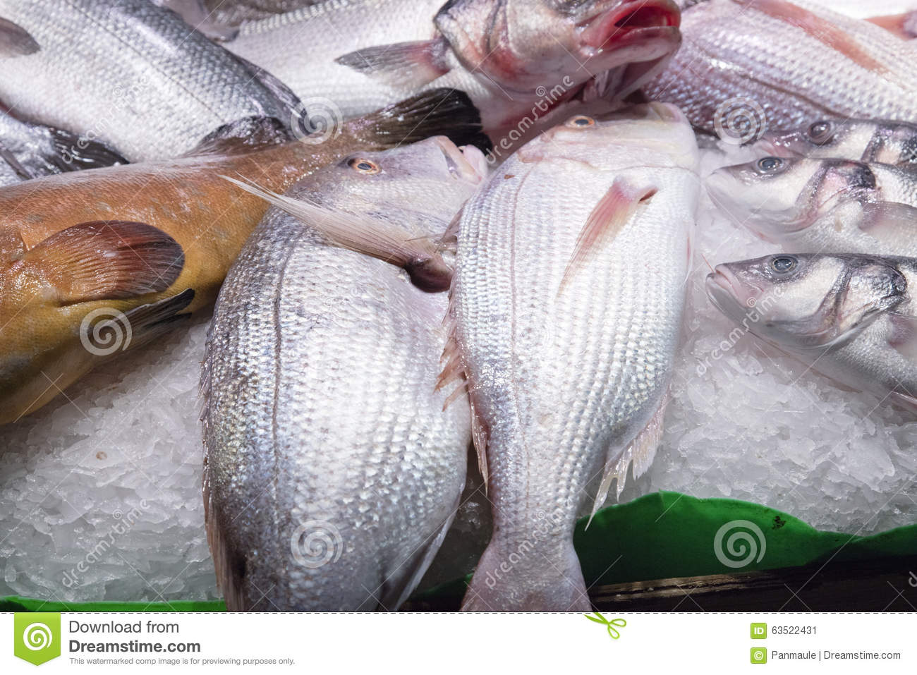 Fresh fish in a spanish market stock photo image 63522431 for Fish in spanish