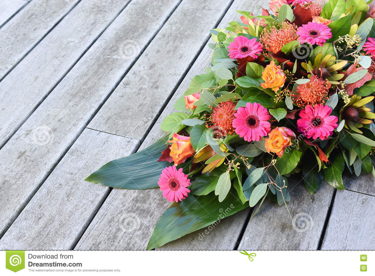 Fresh Flowers For Cemetery Stock Photo Image Of Creation Bouquet