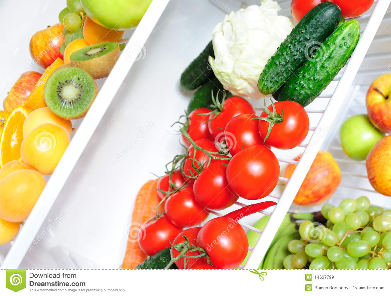 Fresh Food In The Fridge Royalty Free Stock Images Image