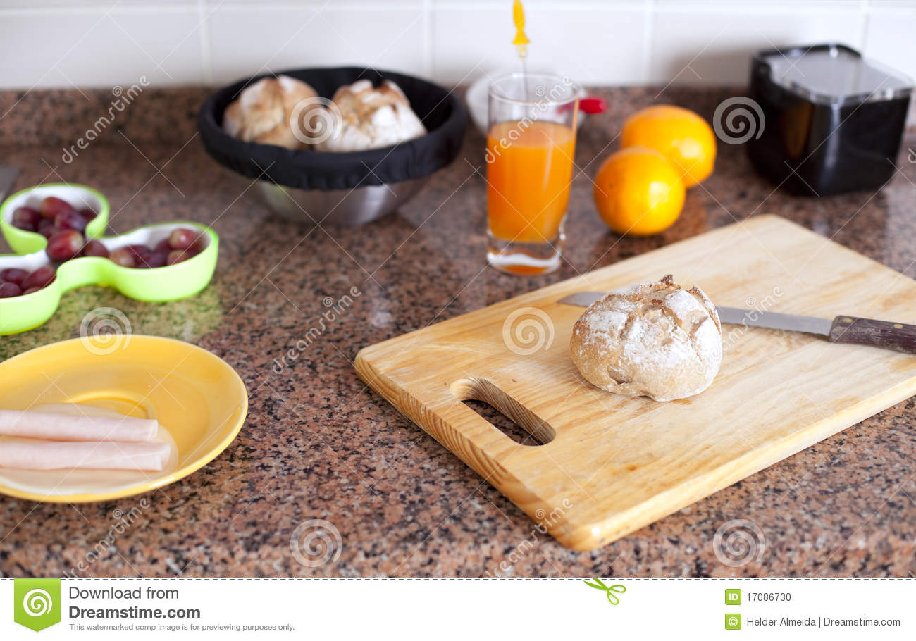 Fresh Food At The Kitchen Table Stock Photo Image 17086730