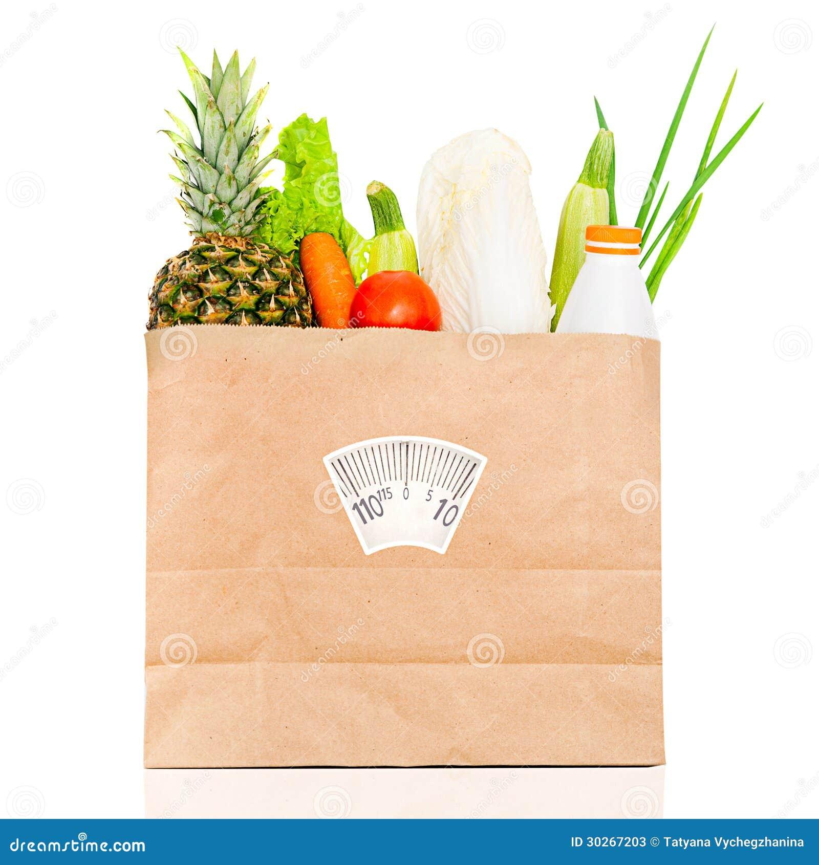 Healthy Foods Paper Bag