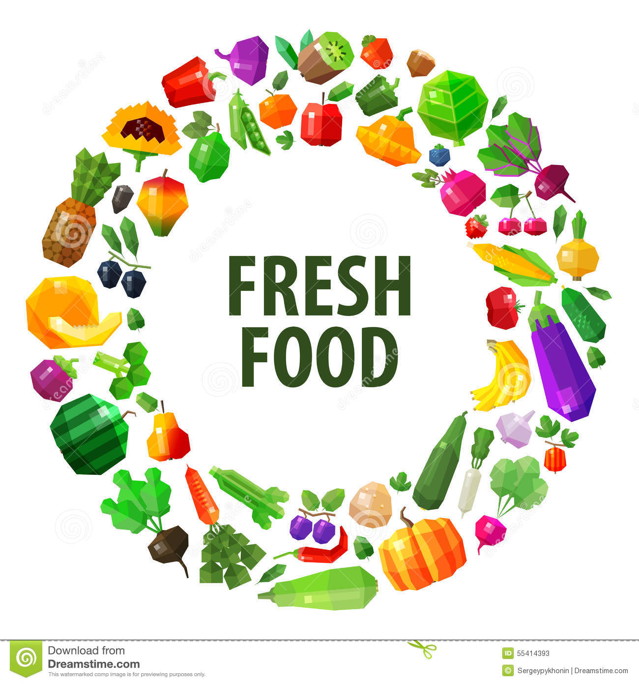 Fresh food vector logo design template fruits and stock for Fresh design