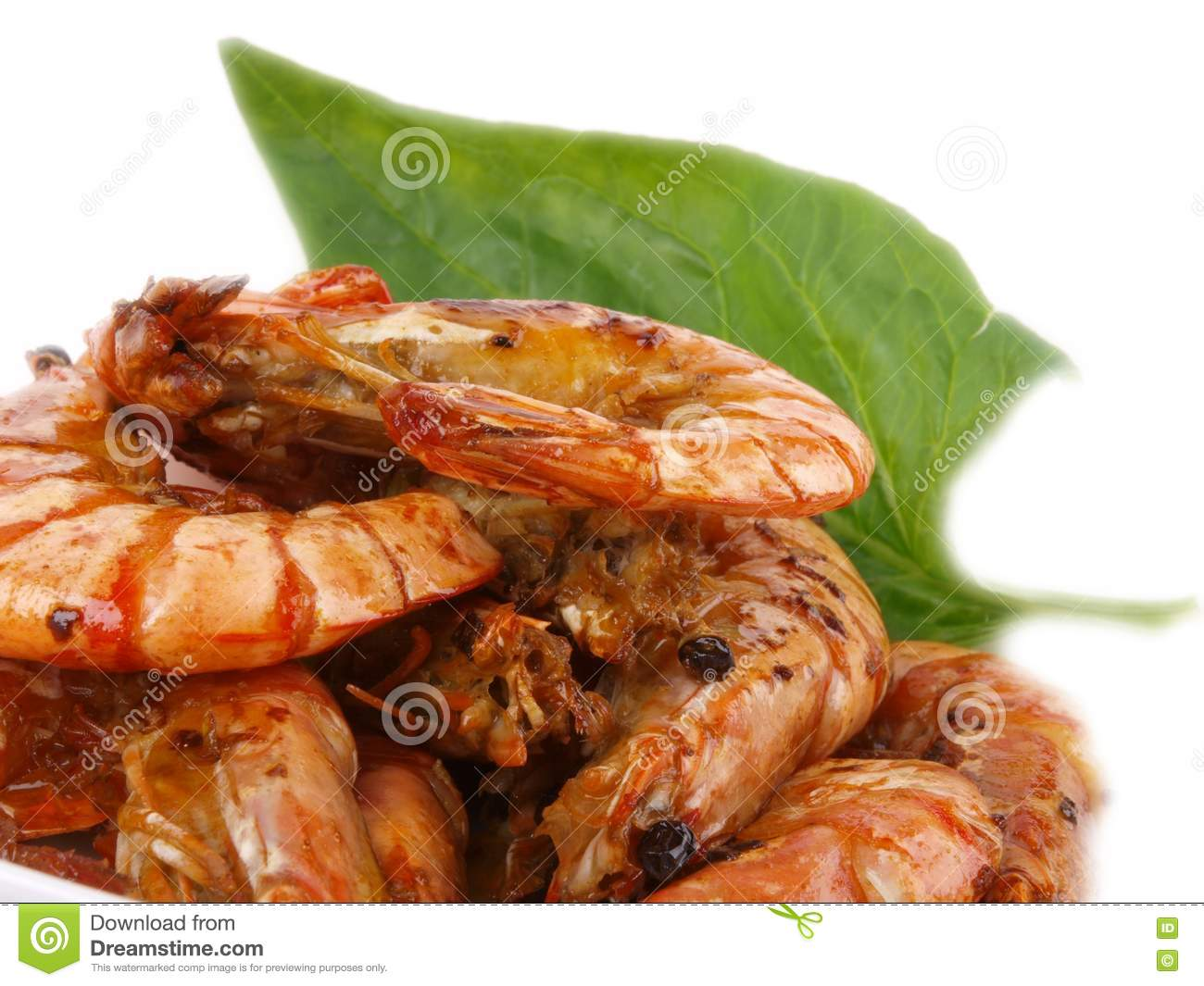 Fresh Fried Tiger Prawns Royalty Free Stock Photography ...