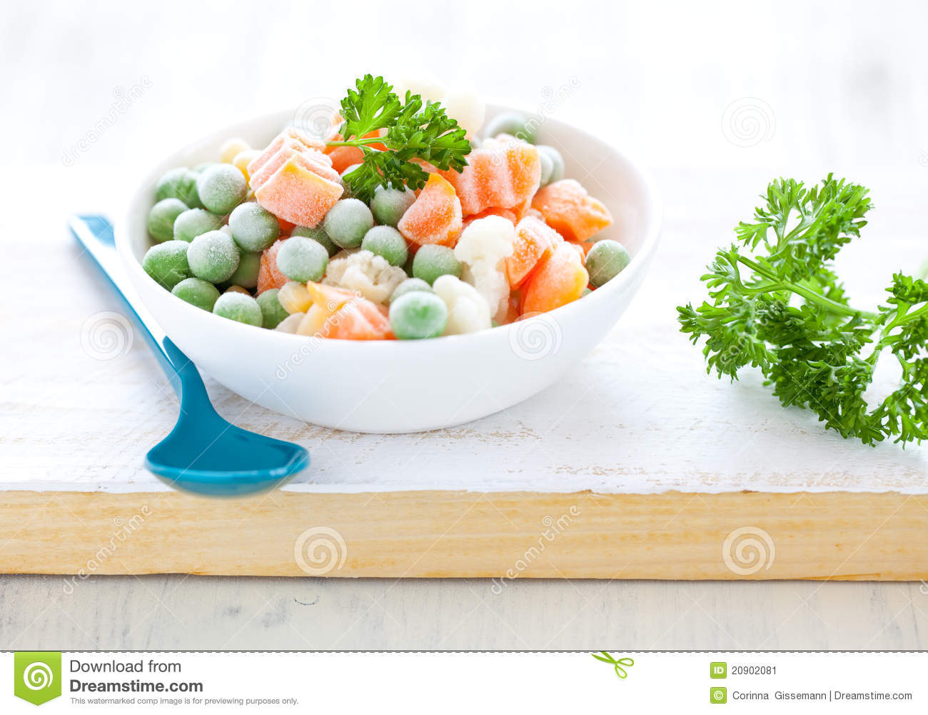 Fresh Frozen Mixed Vegetables Stock Image