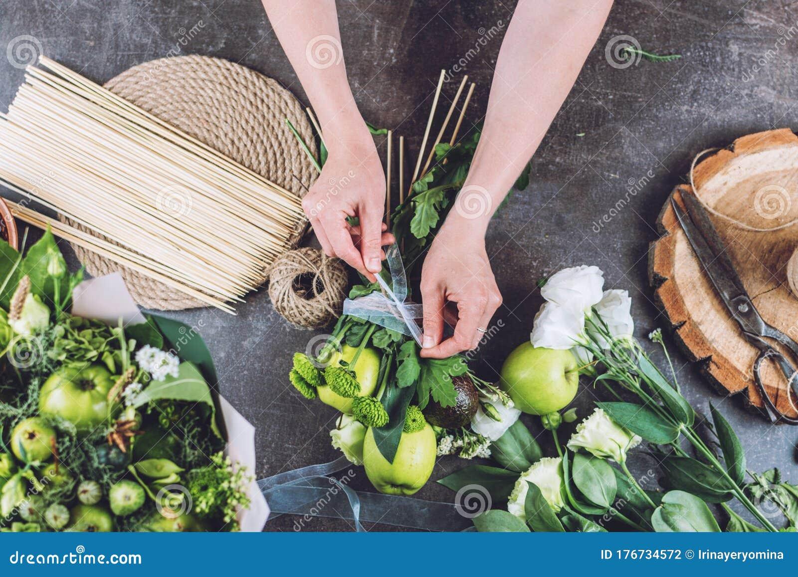 Fresh Fruit Arrangements Bouquets Edible Fresh Fruit Arrangement Gifts How To Make Edible Bouquet Steps Tutorial Florist Stock Photo Image Of Gorgeous Juicy 176734572