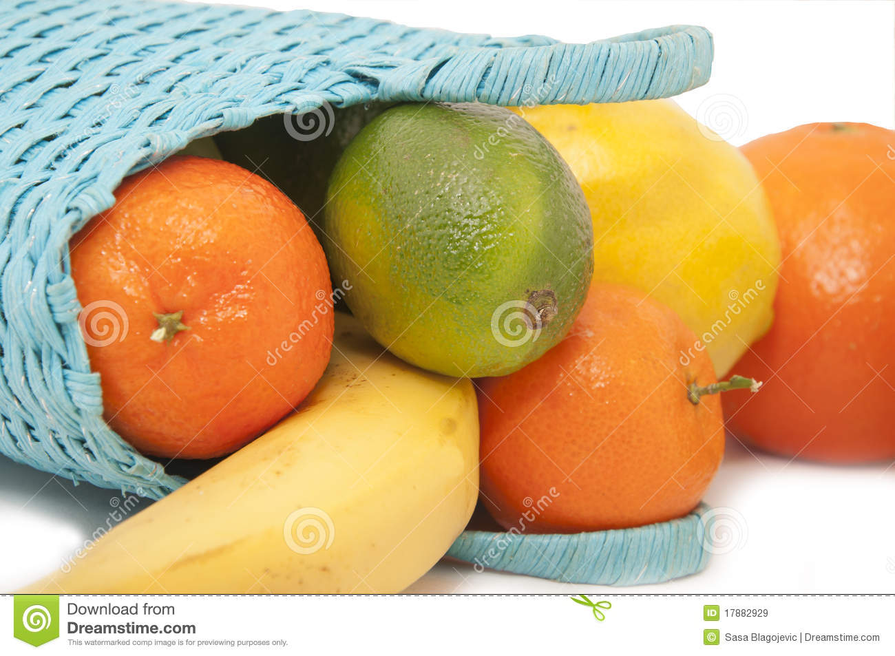 Fresh Fruit In The Basket Royalty Free Stock Images
