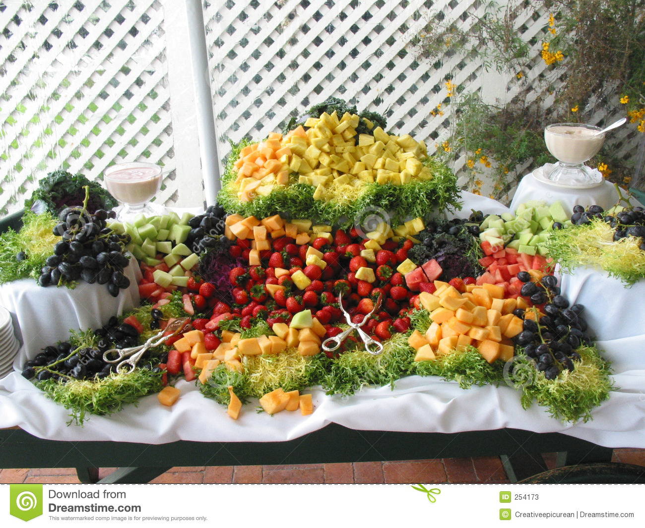 Fresh Fruit Buffet Spread Stock Photos Image 254173