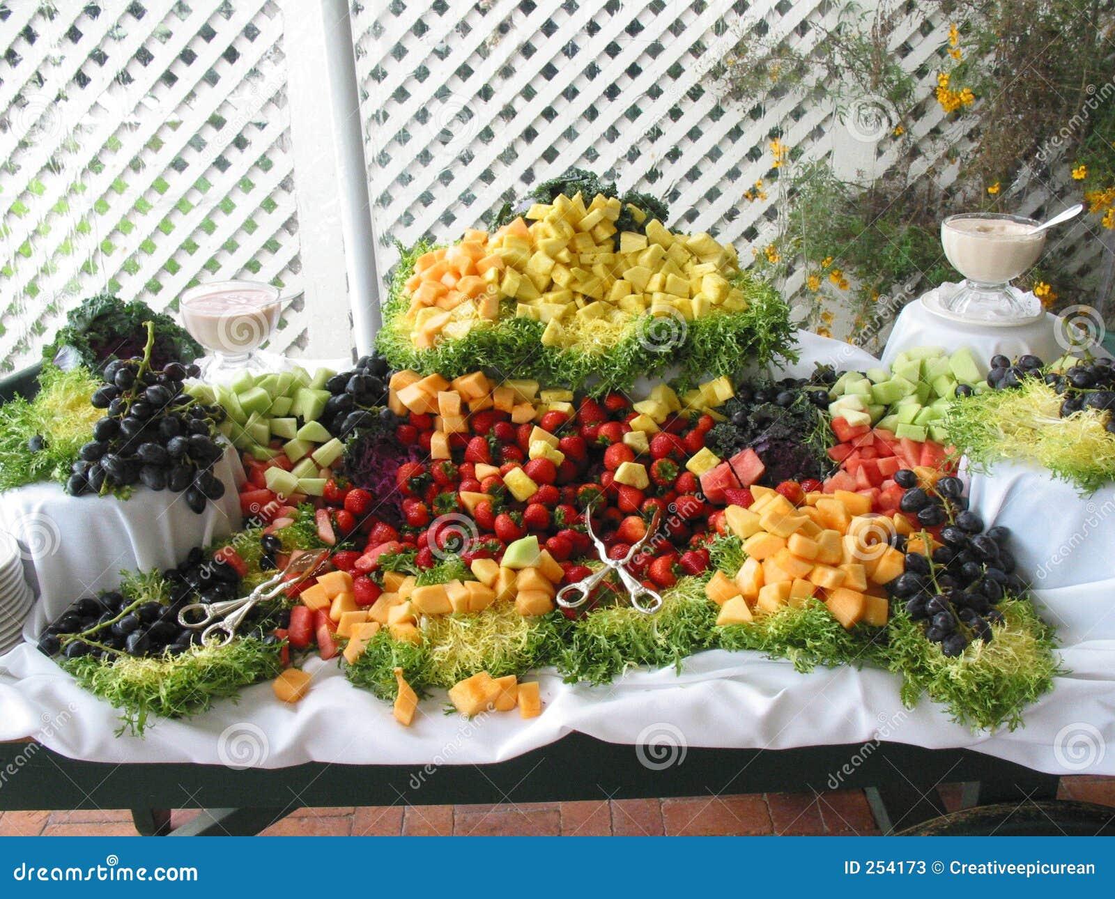 Fresh fruit buffet spread stock photos image 254173 - Decoration pour buffet ...