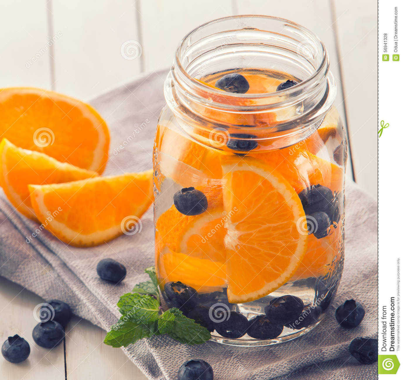 Fresh Fruit Flavored Infused Water Mix Of Orange