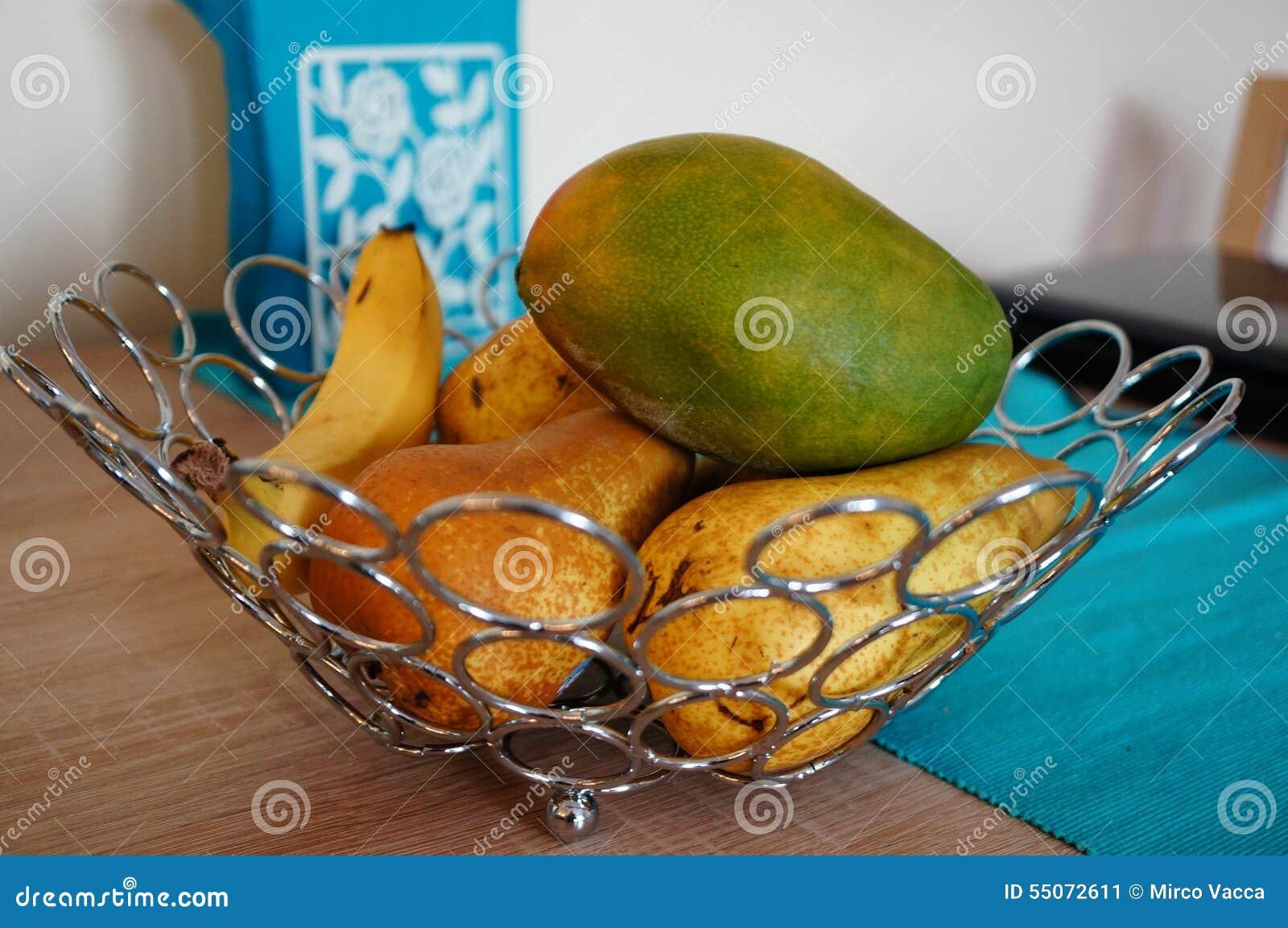 Foodesign Fresh Fruit Basket: Fresh Fruit Stock Image. Image Of Fruit, Mango, Pears