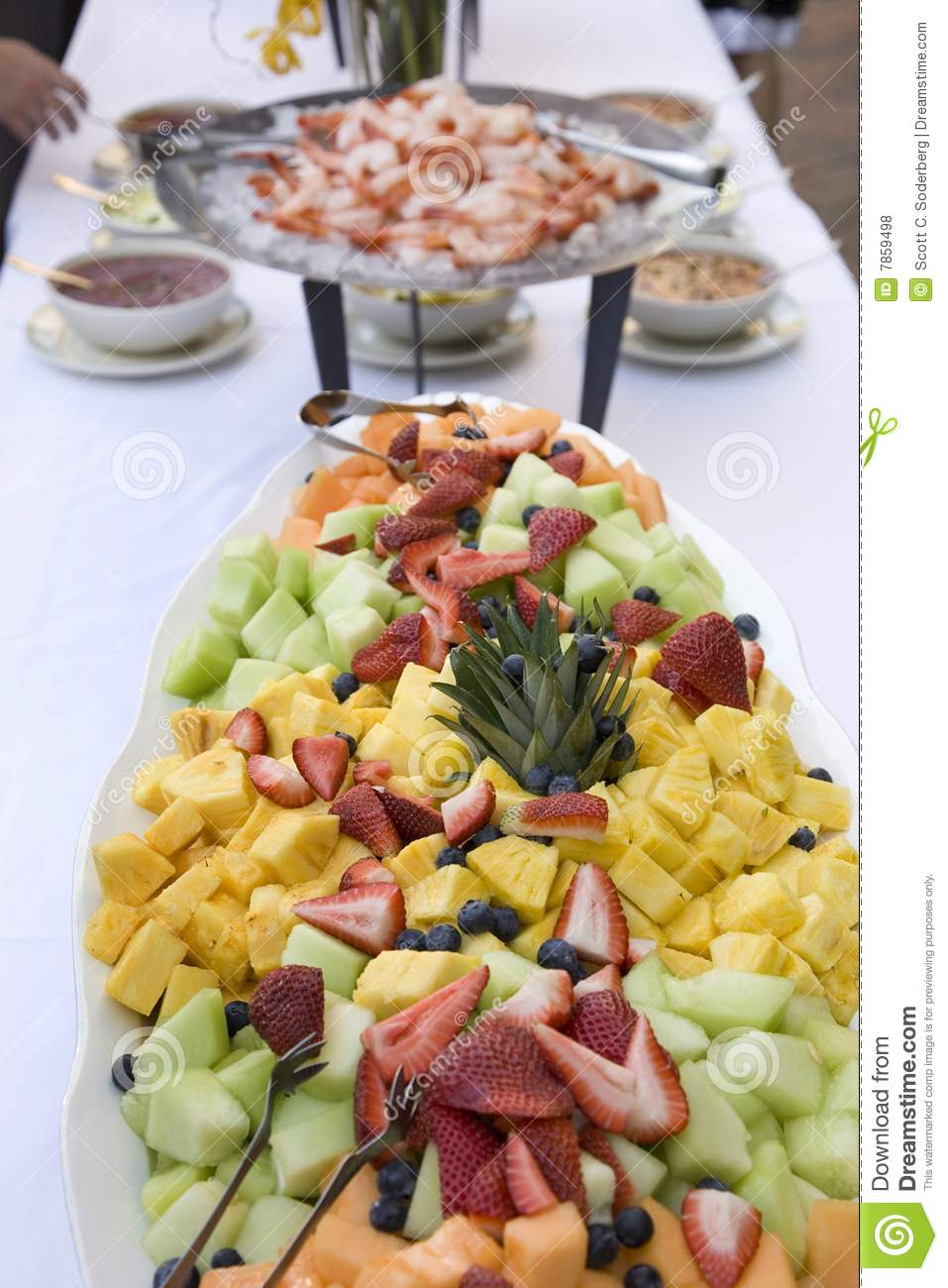 Fresh Fruit Platter Royalty Free Stock Photos