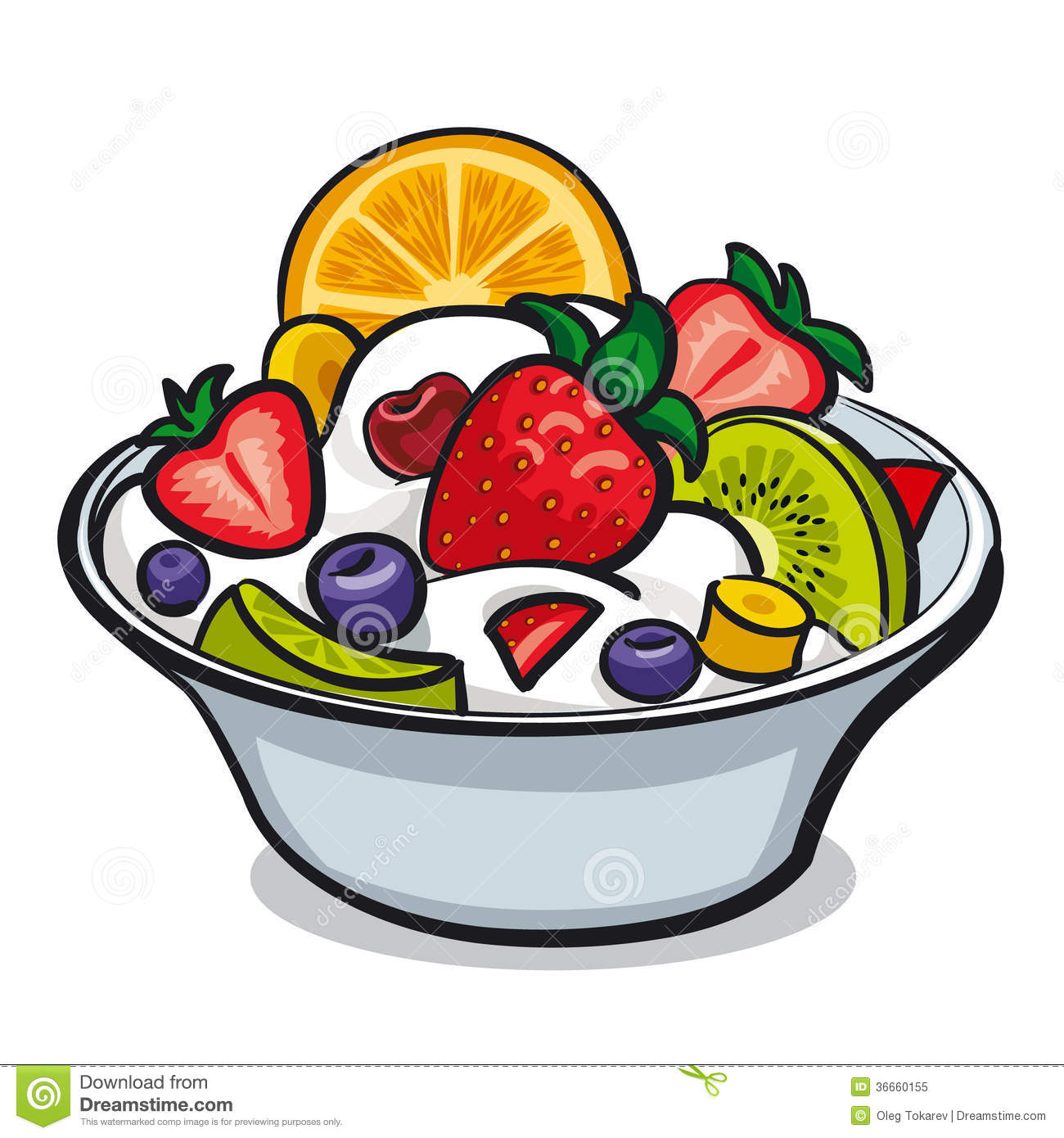 Fresh Fruit Salad Royalty Free Stock Photo - Image: 36660155