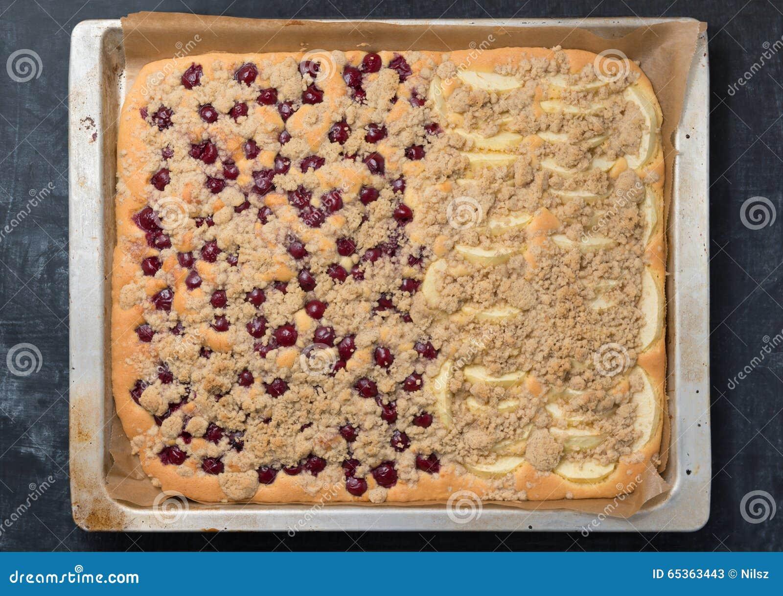 Fresh Fruit Sheet Cake Stock Photo - Image: 65363443