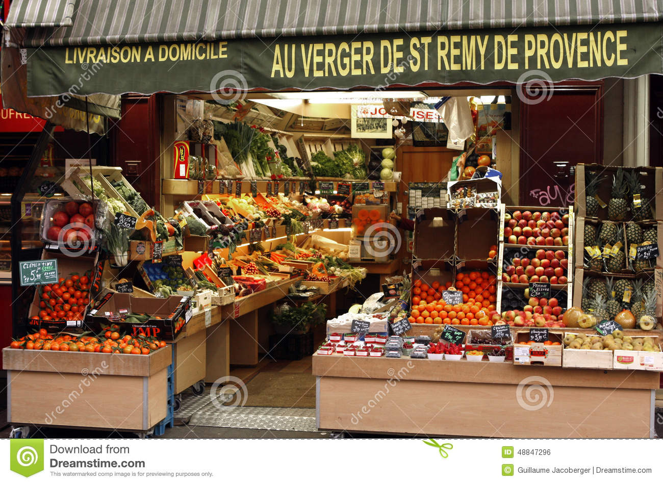 Fresh Fruit Shop Editorial Photo - Image: 48847296