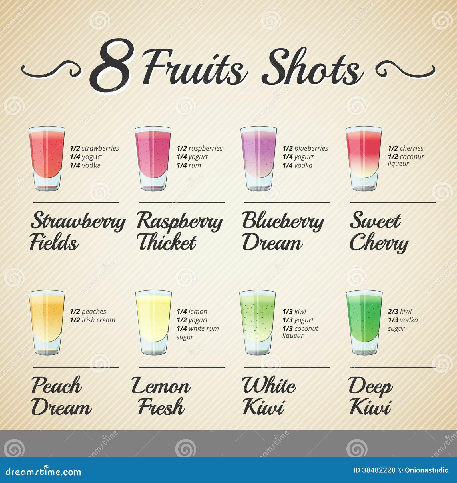 Fresh Fruit Shots Set Stock Photo Image 38482220