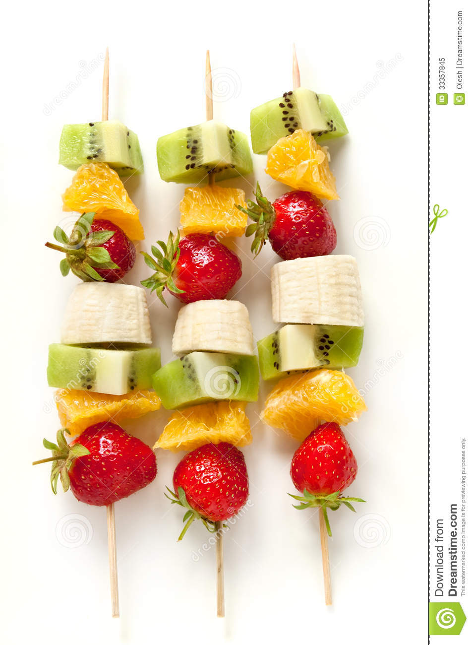 Fresh Fruit On The Skewers Royalty Free Stock Photo - Image: 33357845