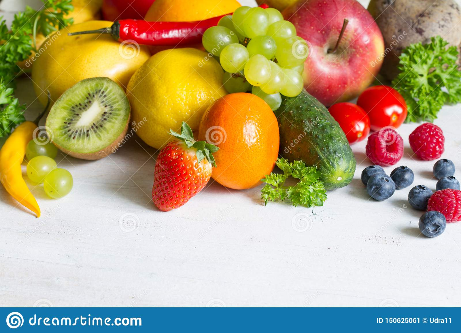 Fresh fruits and yvegetables healthy life style food fitness concept