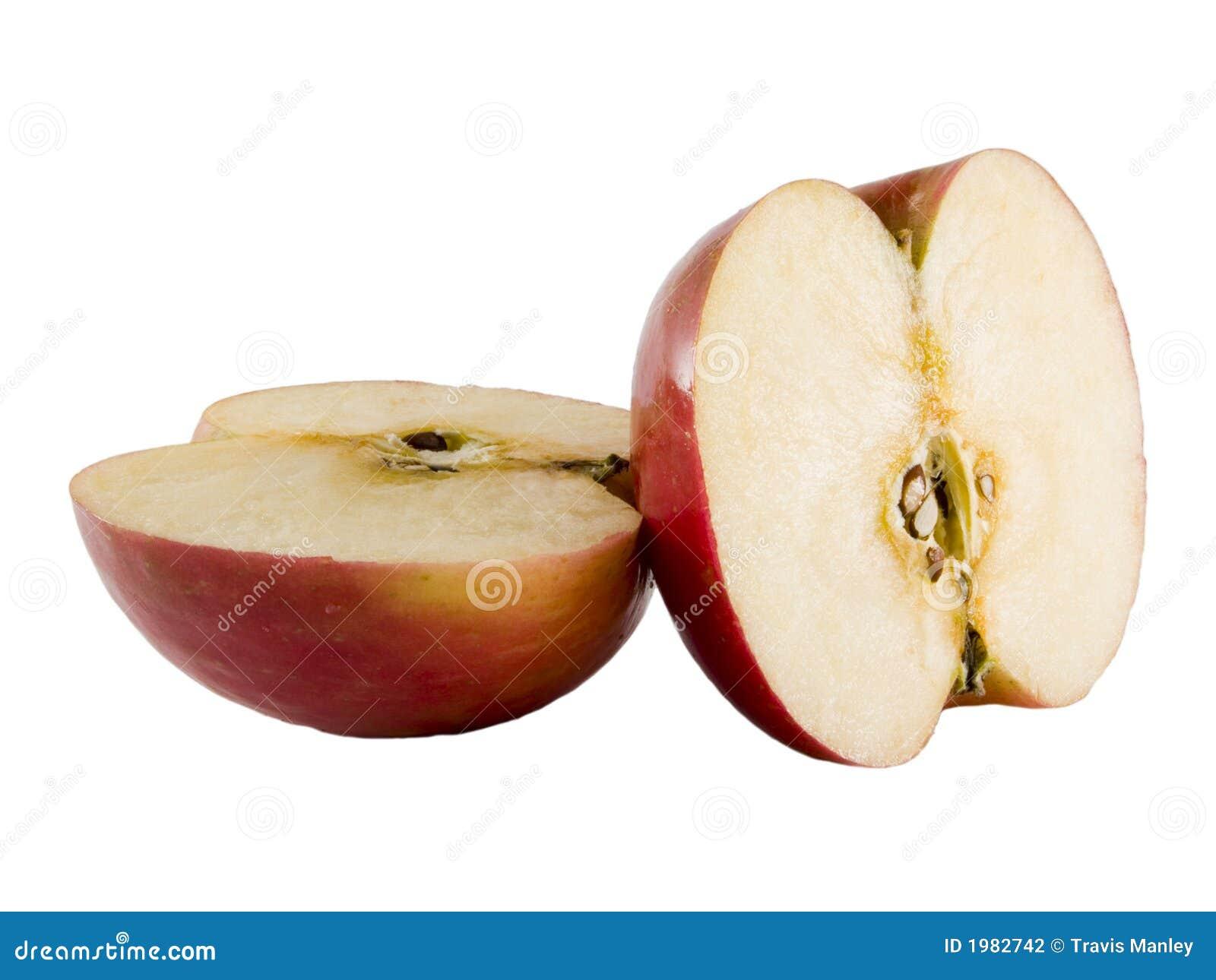 fresh fuji apple cut in half stock photo image of crop