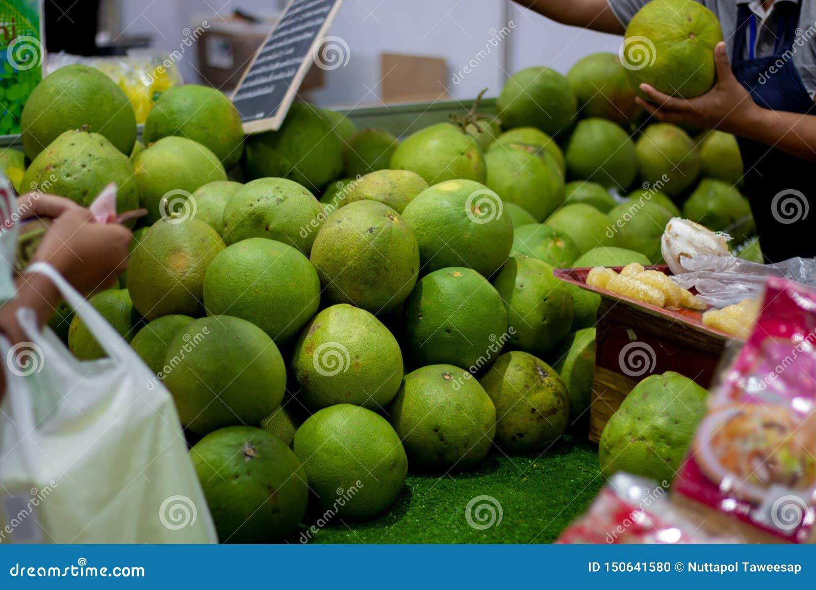 Grapefruit at the market, thai fruit