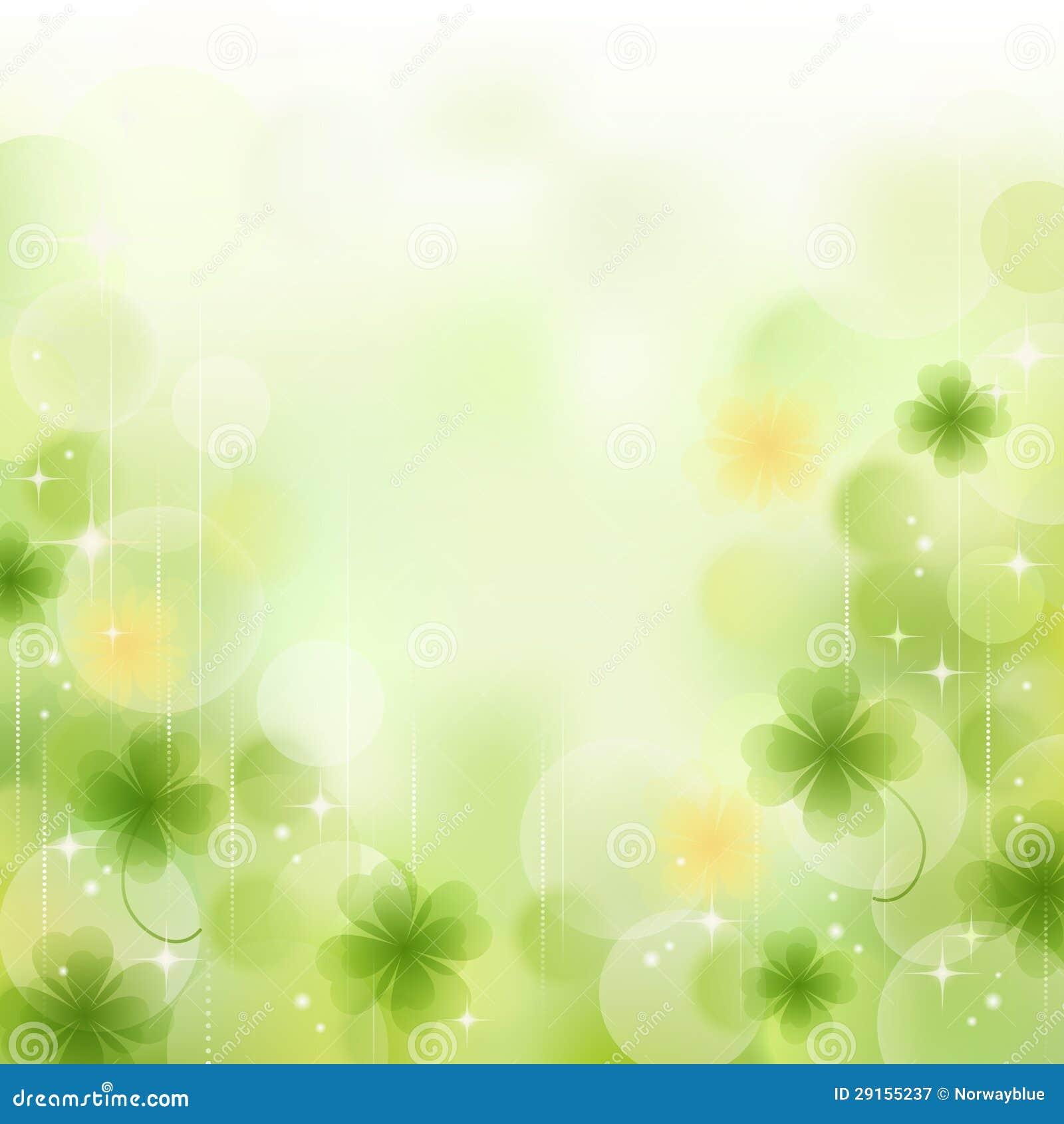 fresh green clover background stock vector illustration
