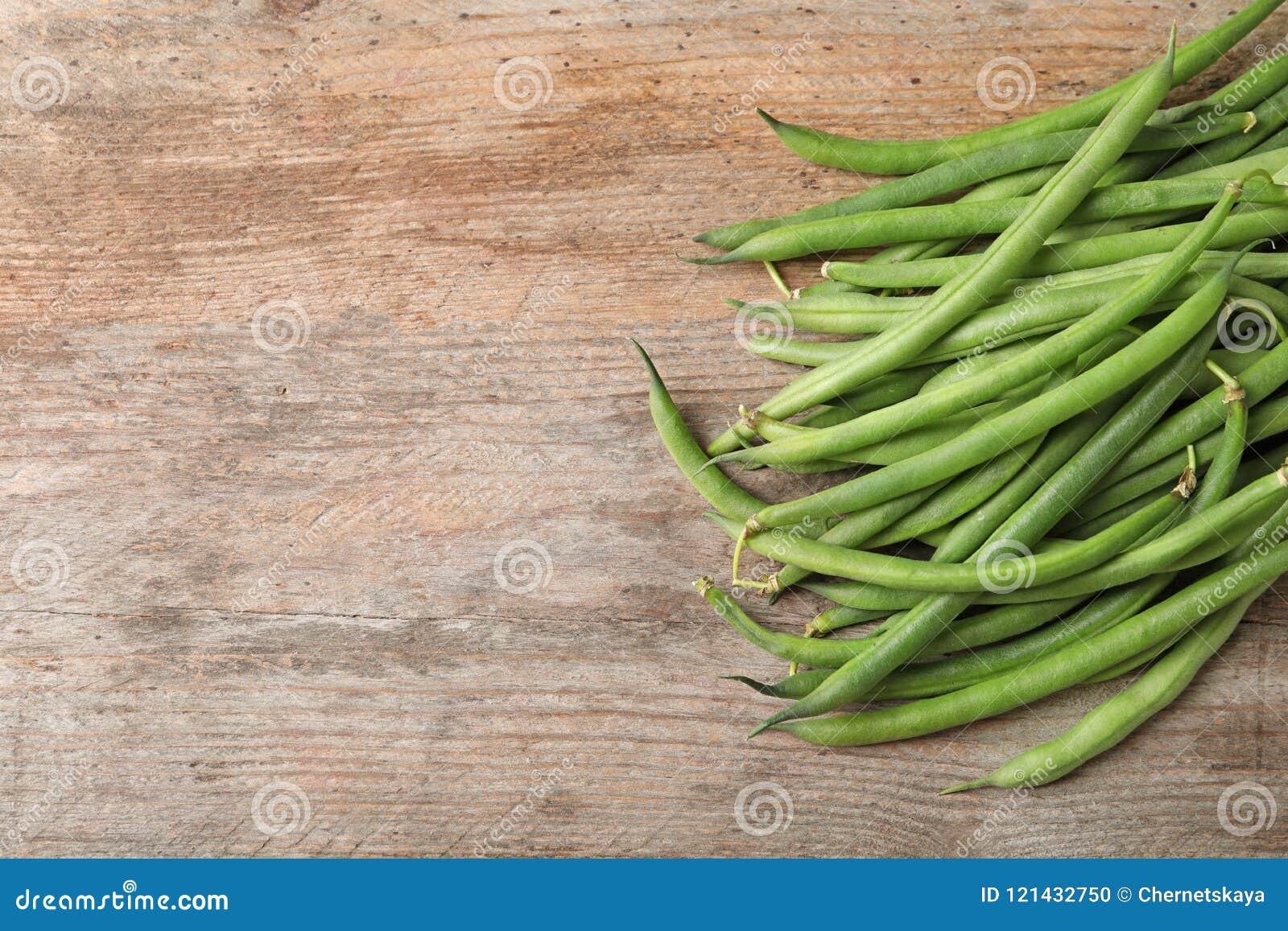 Fresh green French beans