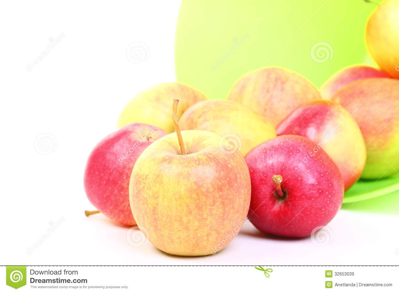 green and red apples in basket. background basket fresh green red and apples in t
