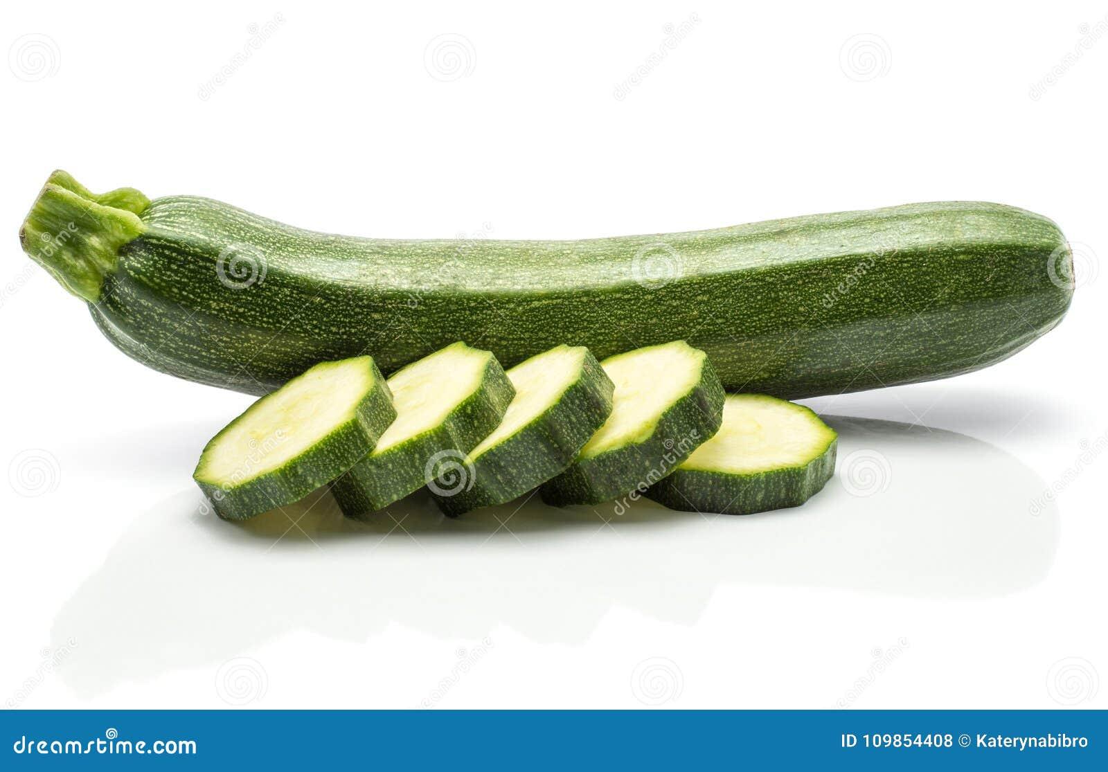 Fresh Green Zucchini Isolated On White Stock Photo - Image ...