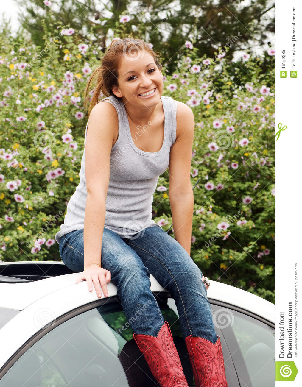 Fresh Happy Teen Girl Stock Image Image Of Casual