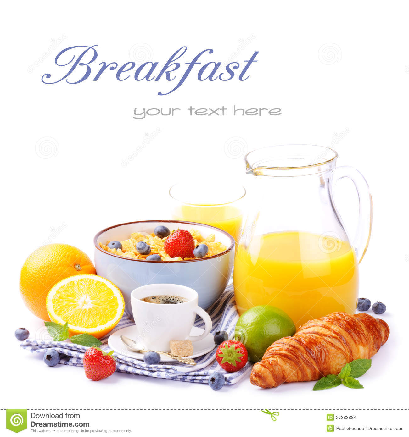 Fresh Healthy Breakfast With Copyspace Stock Images ...