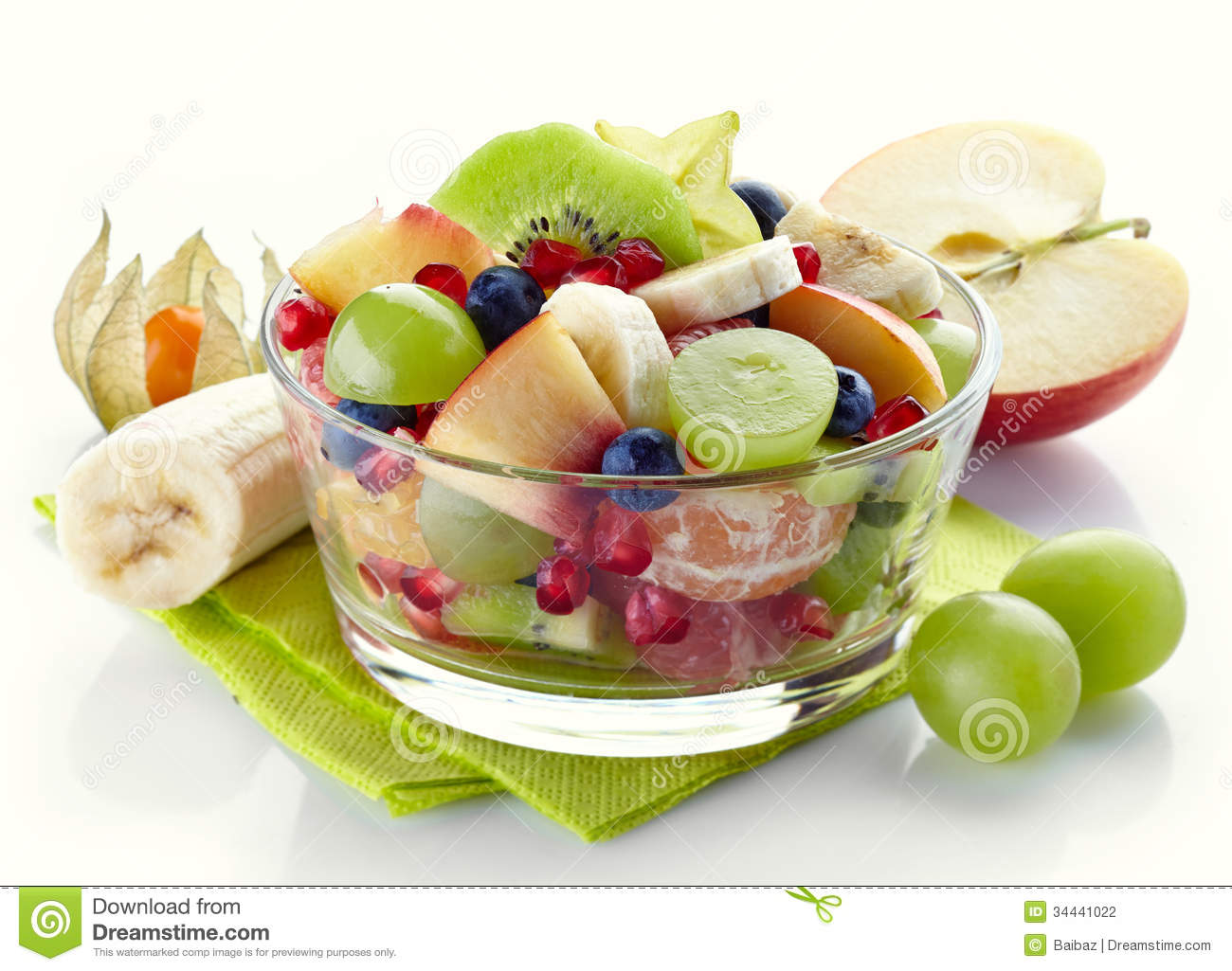 healthy breakfast fruit salad low sugar fruit