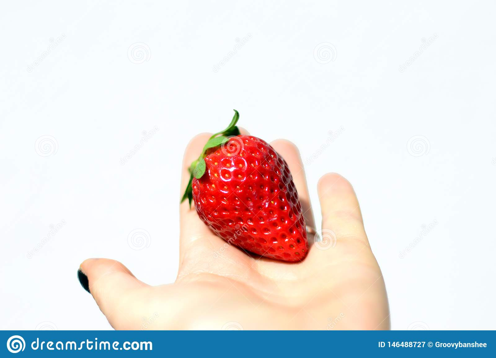 Tasty strawberries isolated on white background