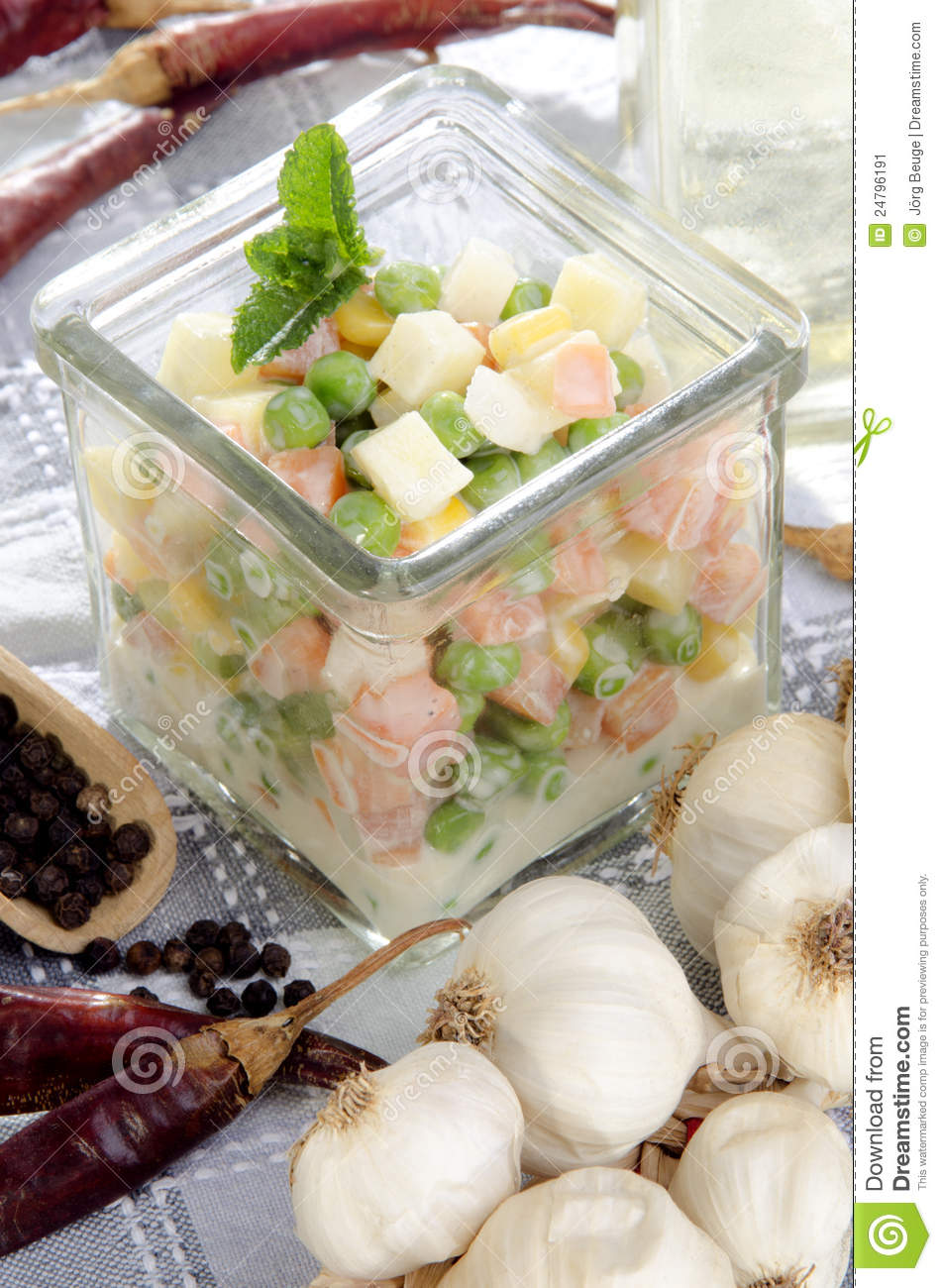 fresh home made french salad stock image image 24796191