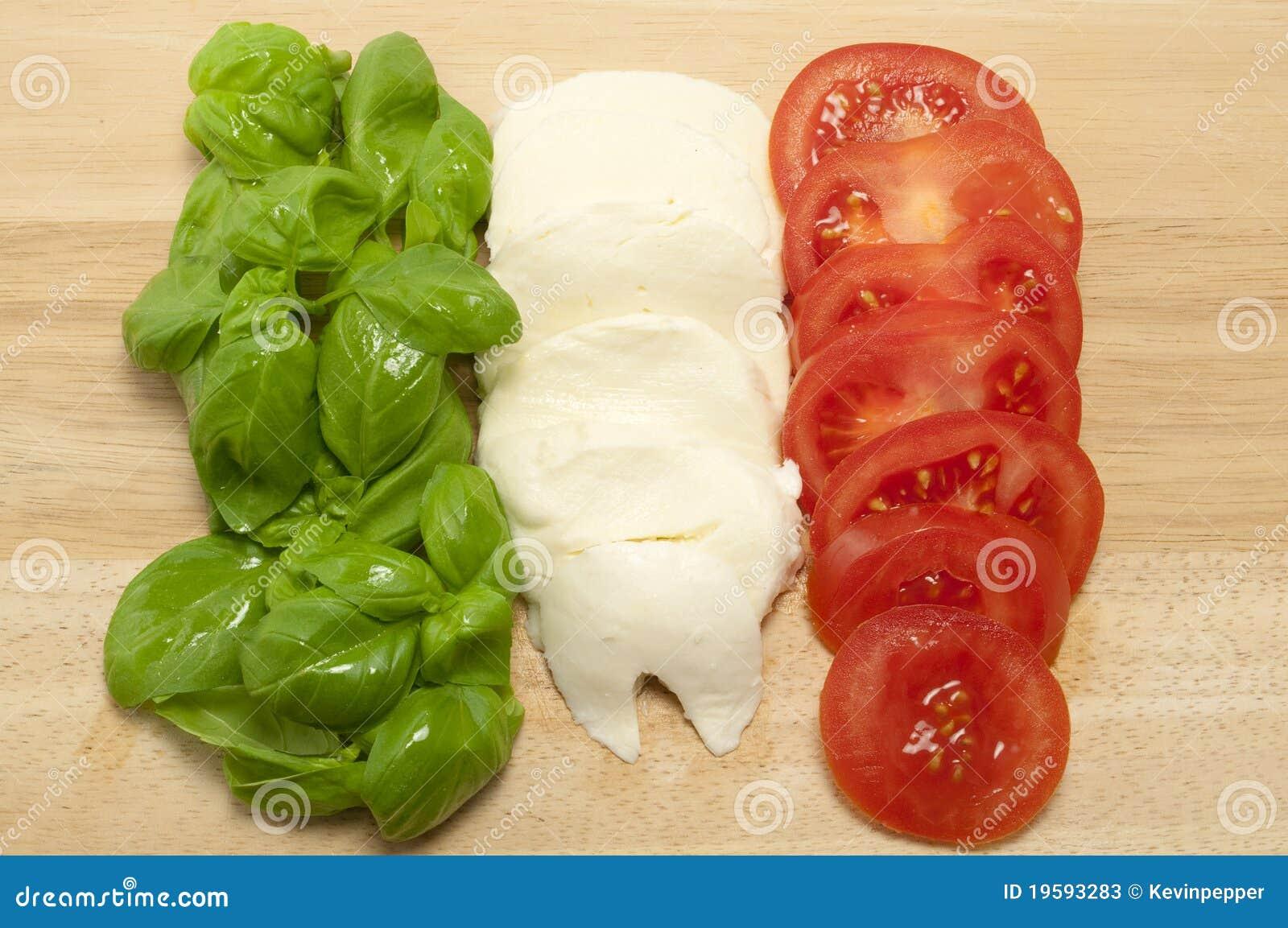 fresh italian food flag stock image image of white chopping 19593283