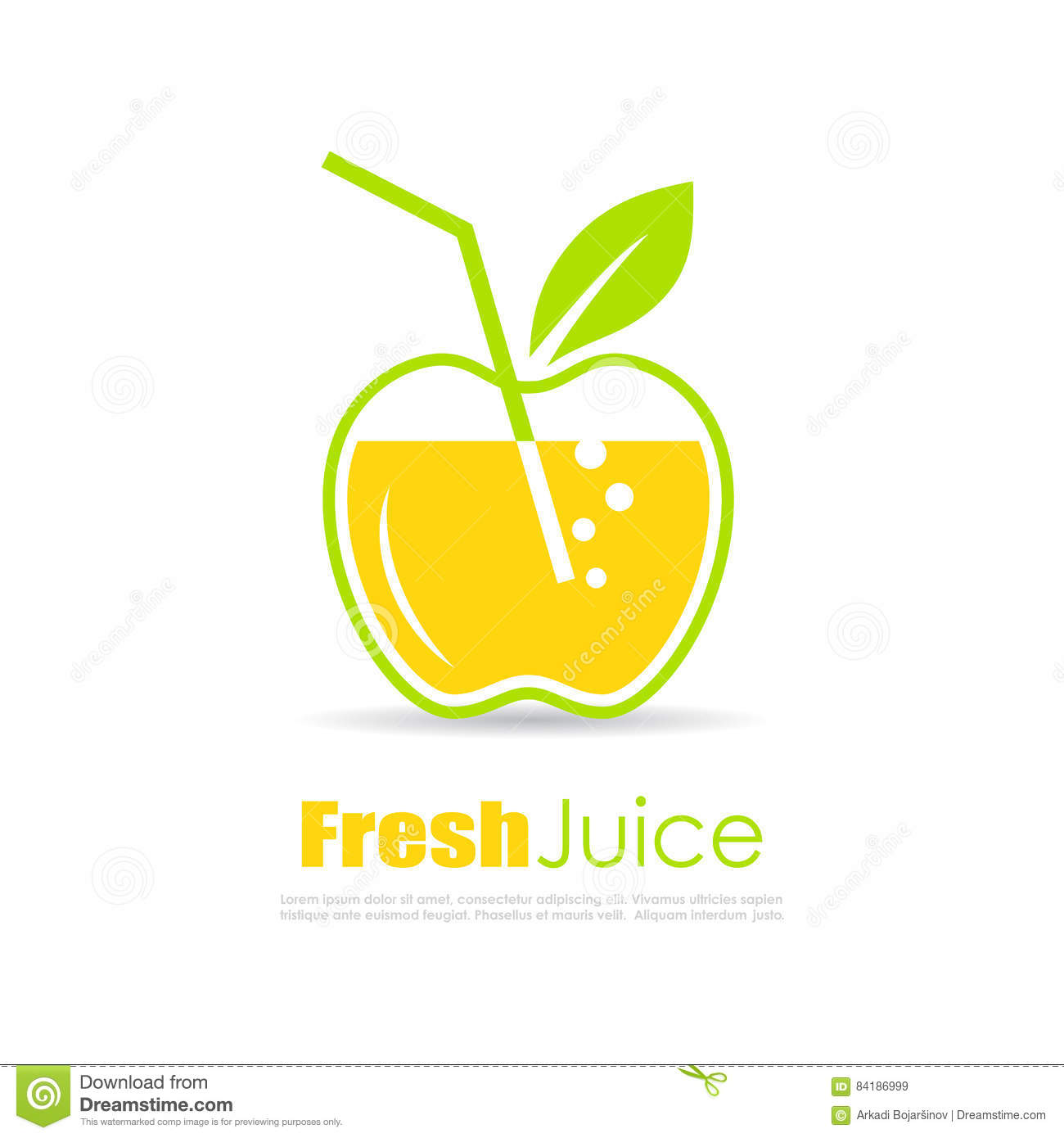 fresh juice vector logo stock vector image of concept