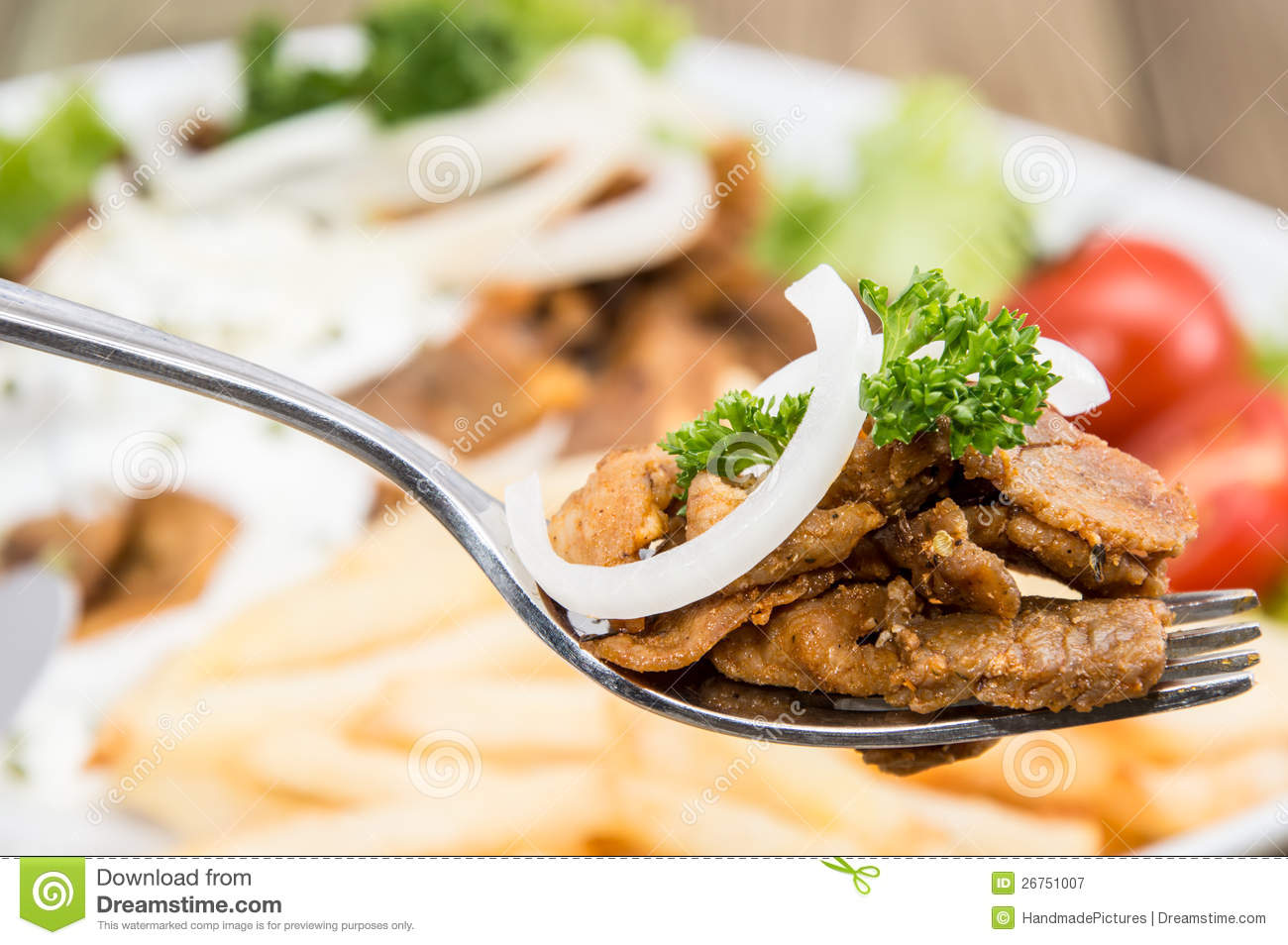 how to eat kebab with fork