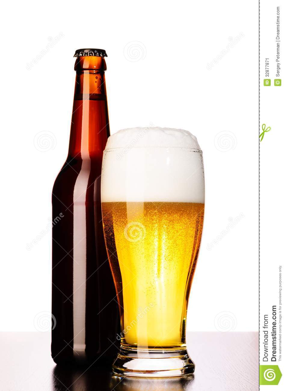 Fresh lager beer stock image image 32877871 for How to cut a beer bottle at home