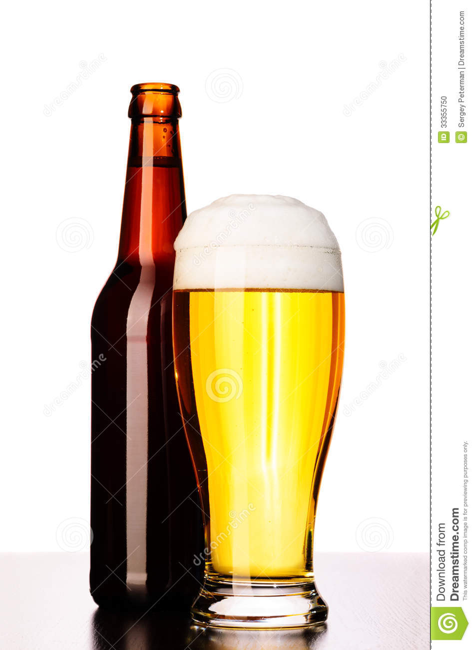 Fresh lager beer stock photo image 33355750 for How to cut a beer bottle at home