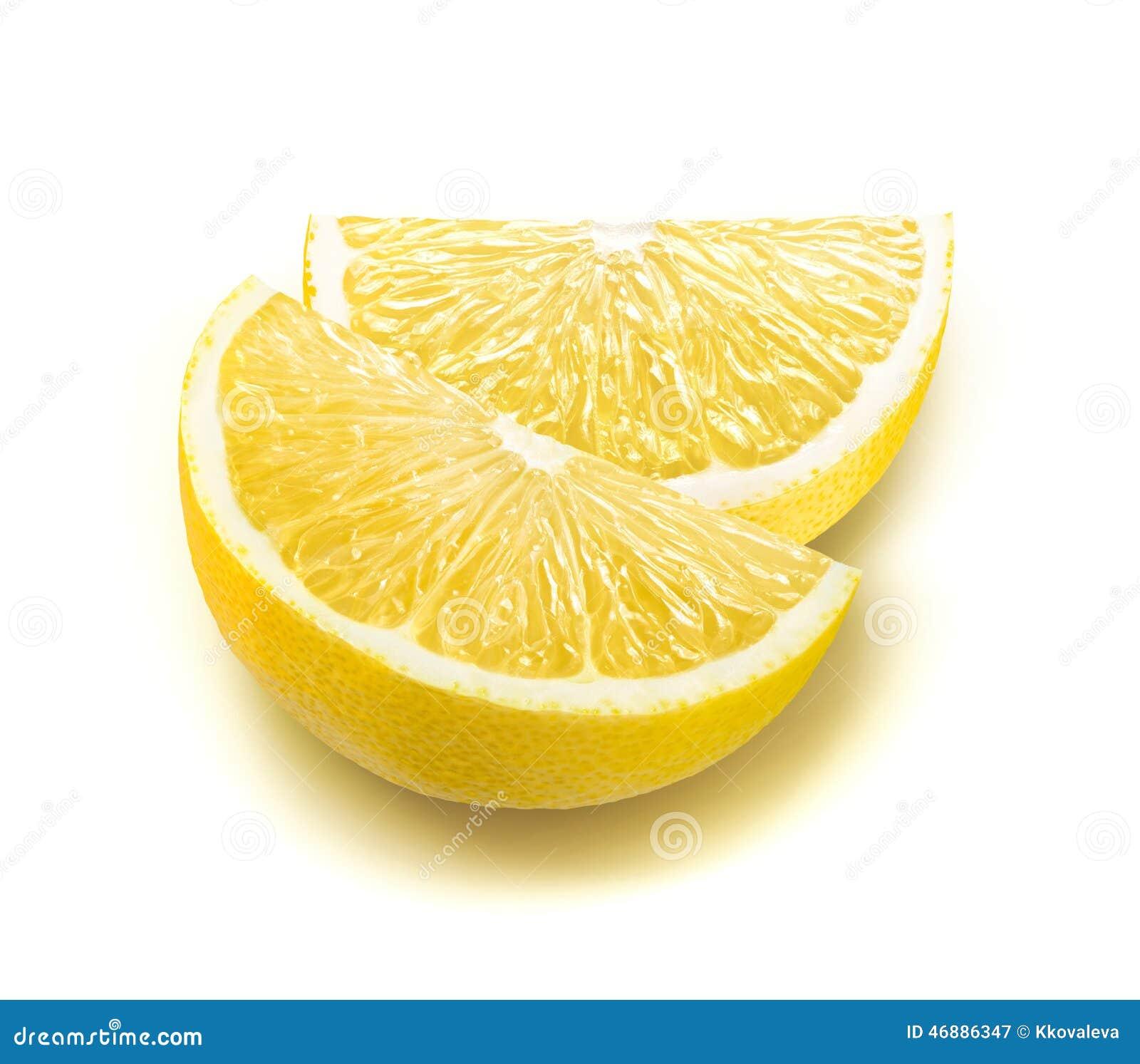 Fresh lemon quarter slices Quarter Lemon
