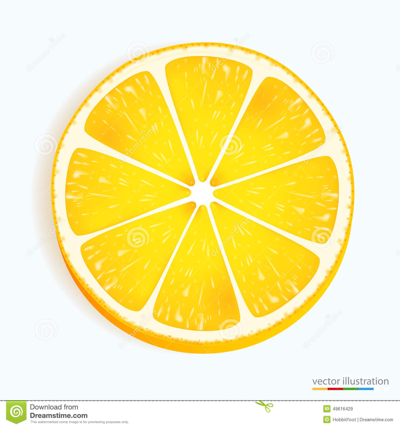 Lemon Slice Isolated On White Background Stock Photo, Picture And ...