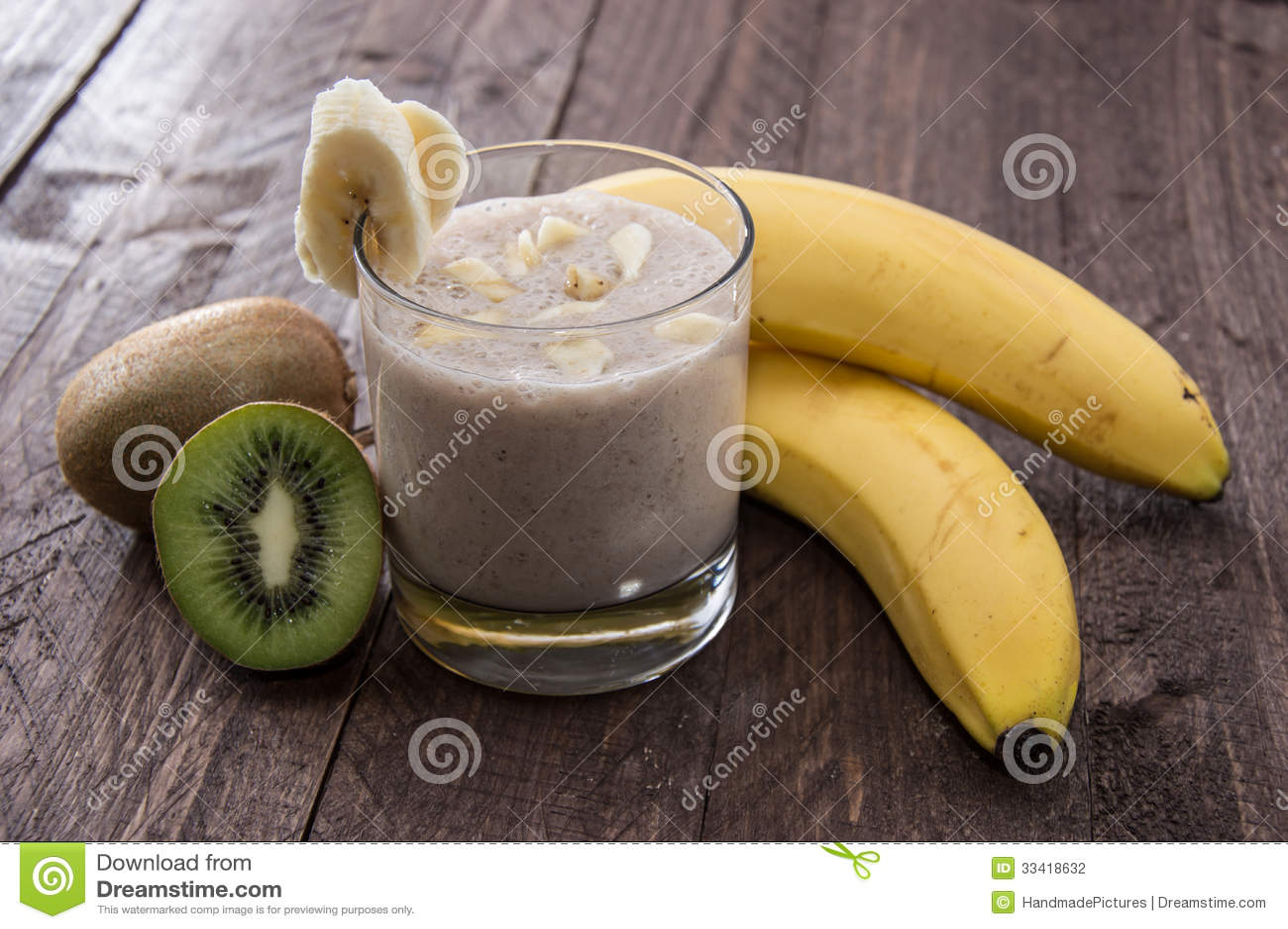 Fresh made fruity milkshake
