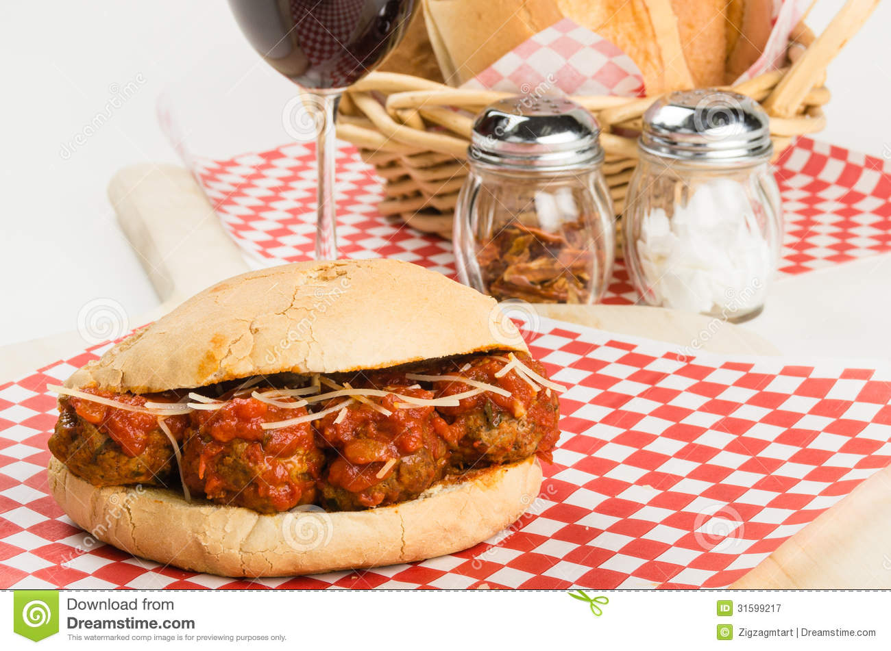 Fresh Meatball Sub Sandwich For Lunch Royalty Free Stock Photography ...