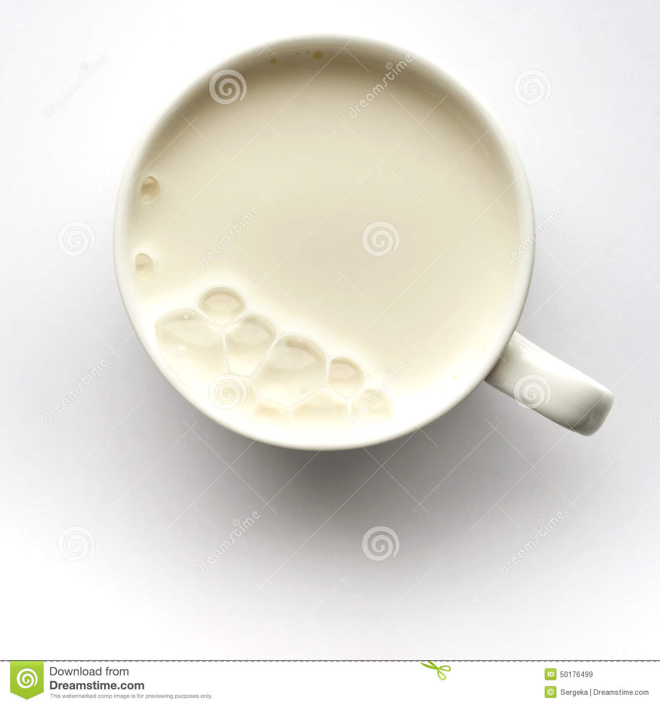Fresh milk in the cup