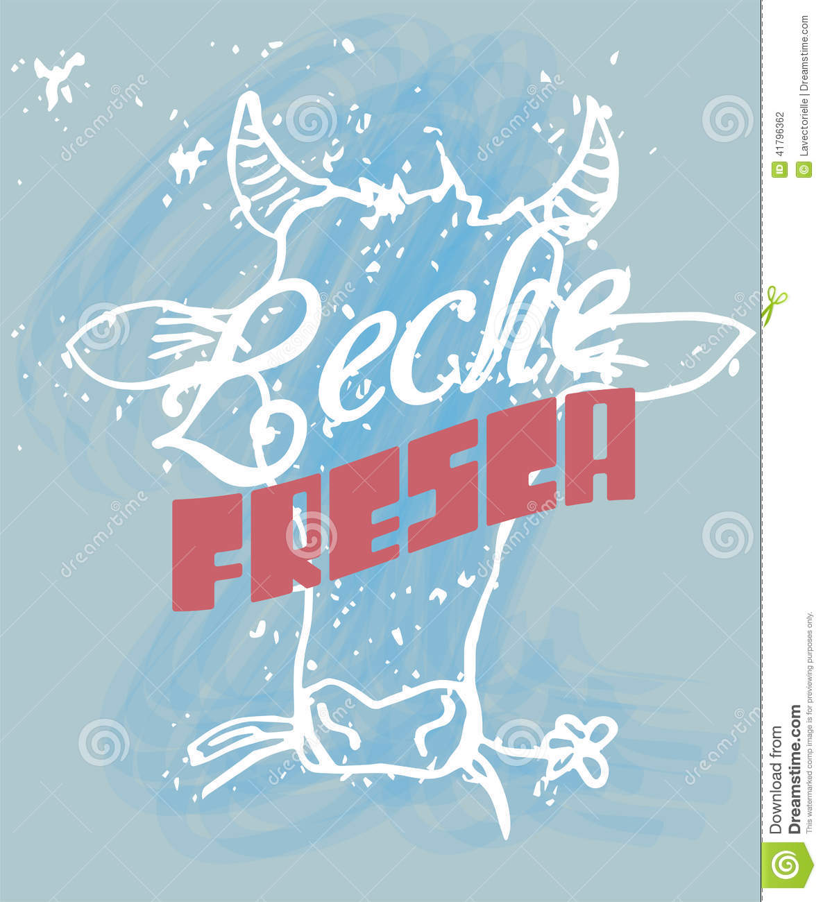 Fresh milk stock vector image 41796362 for Frash meaning
