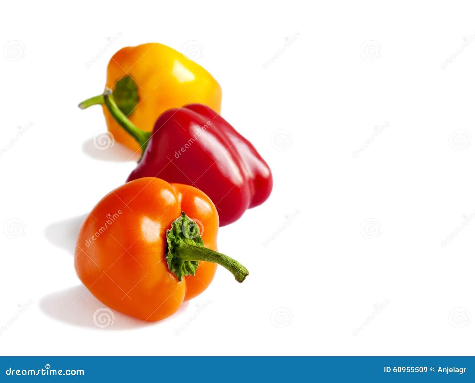 Fresh mini bell peppers.