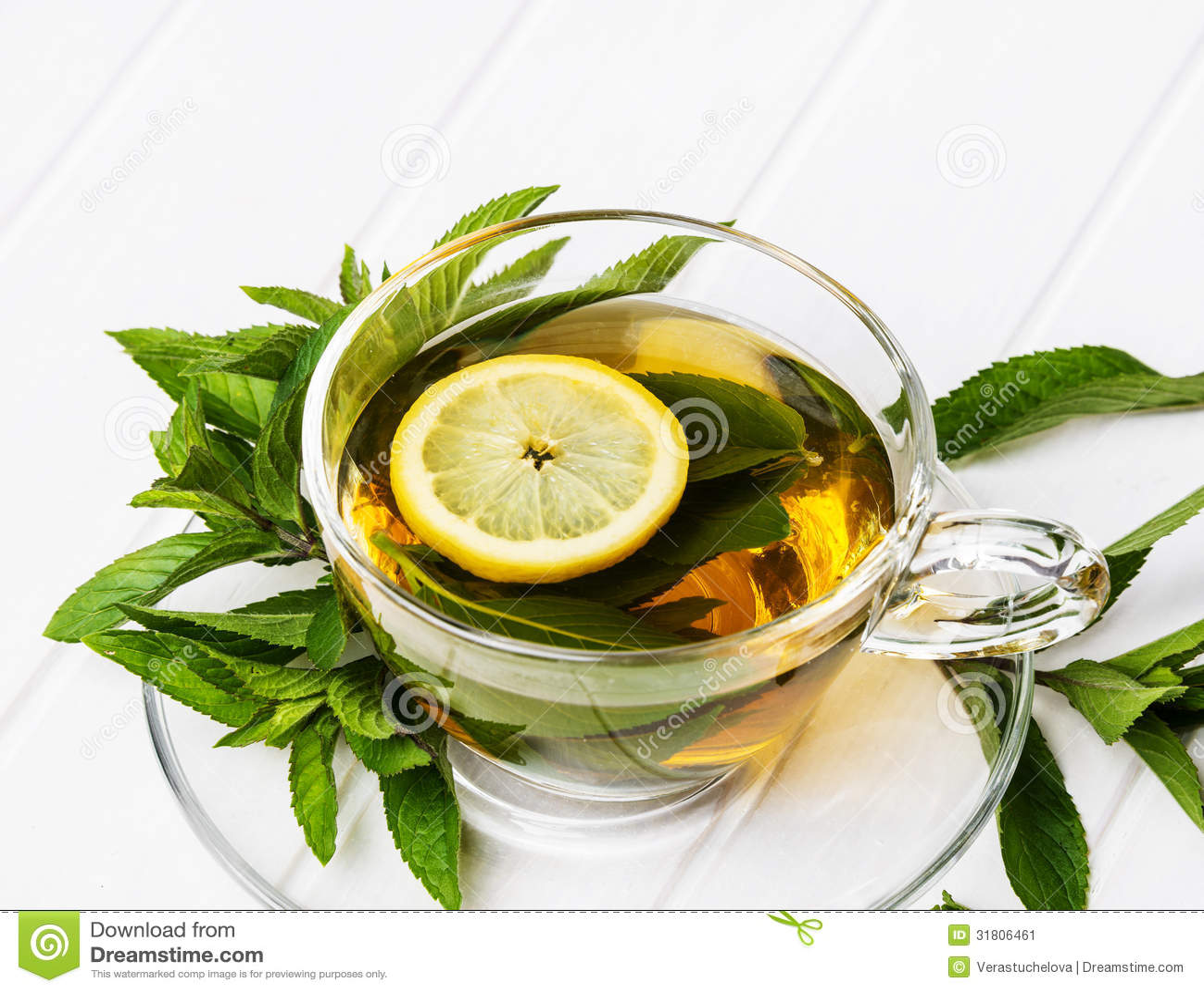 Fresh Mint Tea Stock Image - Image: 31806461